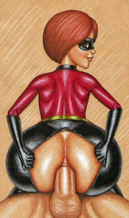 Helen aka Elastigirl loves anal sex - her stretching asshole can easily take cock of any size!