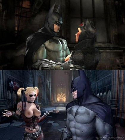 Catwoman or Harley? Batman is gonna check them both!