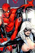 black cat spiderman porn