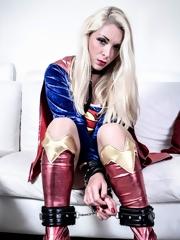 Big tits superhero gets fucked