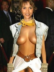 Halle Berry loves to show her talents... and her tits!