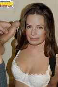 Beautiful Holly Marie Combs exposing her naked tits and sweet pussy!