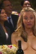 Kaley Cuoco loves to show her tits... even if there are people around!