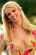 Britney Spears posing topless