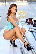 Kelly Brook posing in amazing hot lingeries