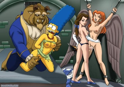 When Belle and Beast are bored they usually find girls from other cartoons and fuck them in their basement!
