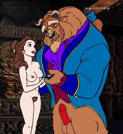 Why Beast's cock is erected right now? Because Belle forgot her dress!