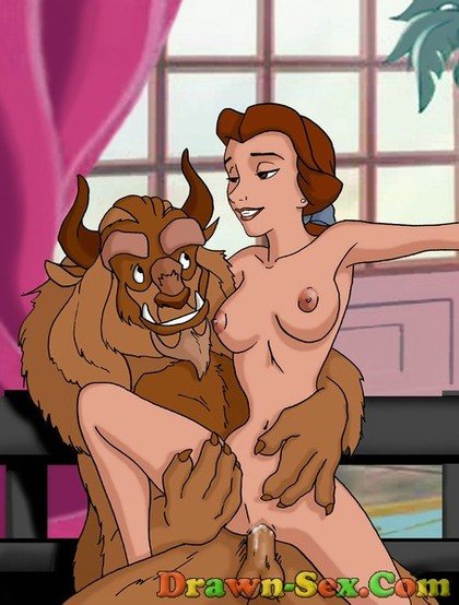 this picture shows Belle and Beast getting it on in the castle