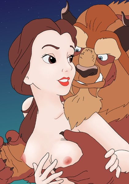 Belle has a pretty little titties and Beast likes them!