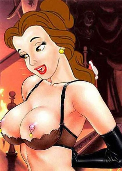 Princess Belle showing us her beautiful priced tits