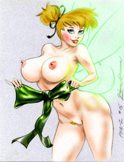 Tinker Bell is going to proove you that even little fairy can have big boobs!
