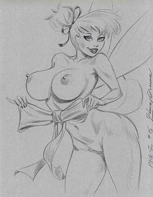 Nude Tinker Bell - what a present for every Disney fan!