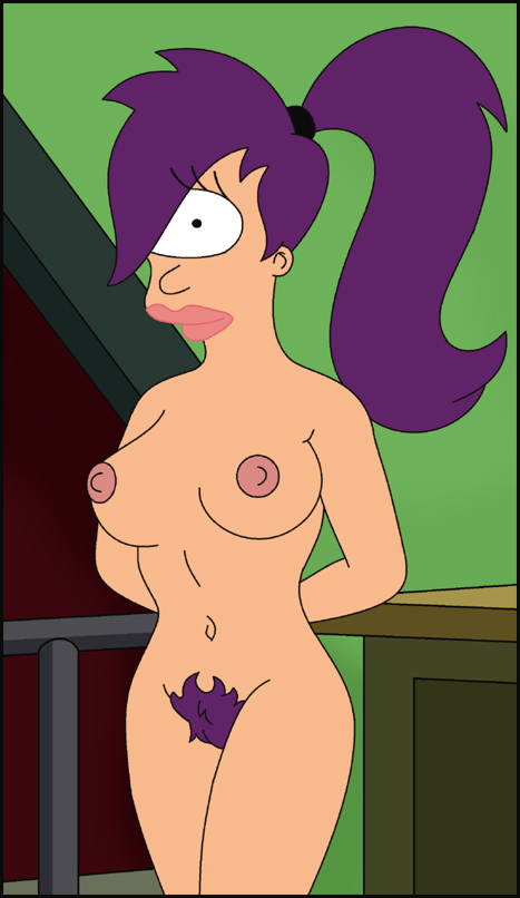 "Great art of Leela Turanga from ""Futurama"" posing absolutely naked!"