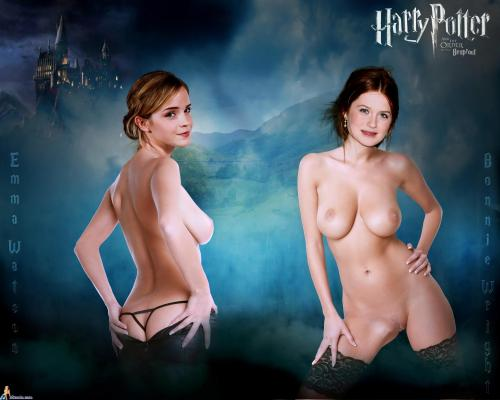After the final battle, Harry Potter has to make a choice - which of these two hot witches will he fuck?
