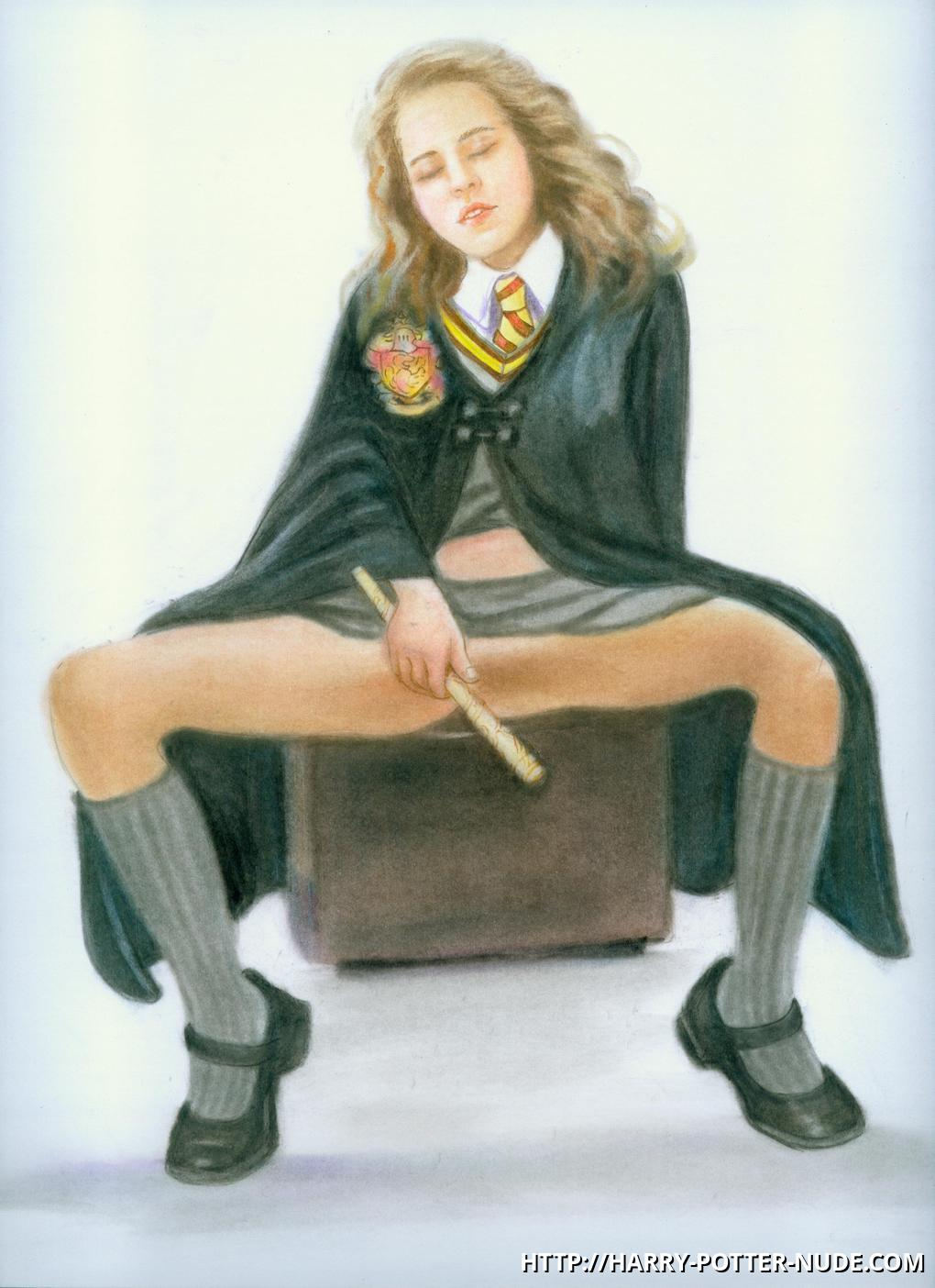 Hermione Jean Granger spread legs and want some cigar in her cunt