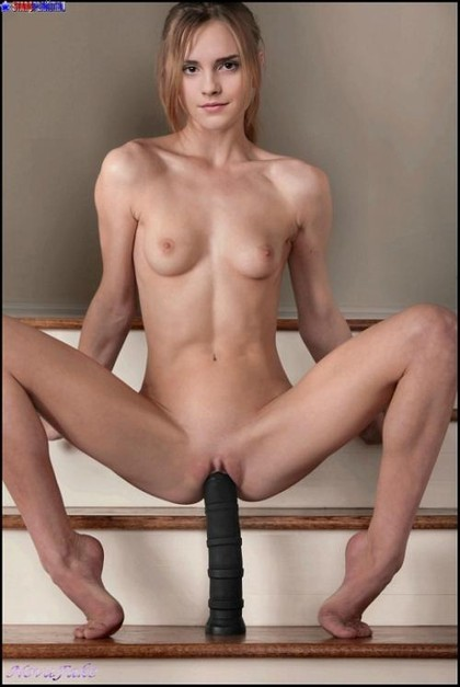 See how absolutely naked Hermione Jean Granger will ride on this huge magic wand!