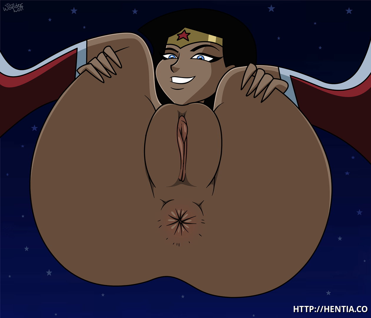 Wonder woman shows her amazing love holes