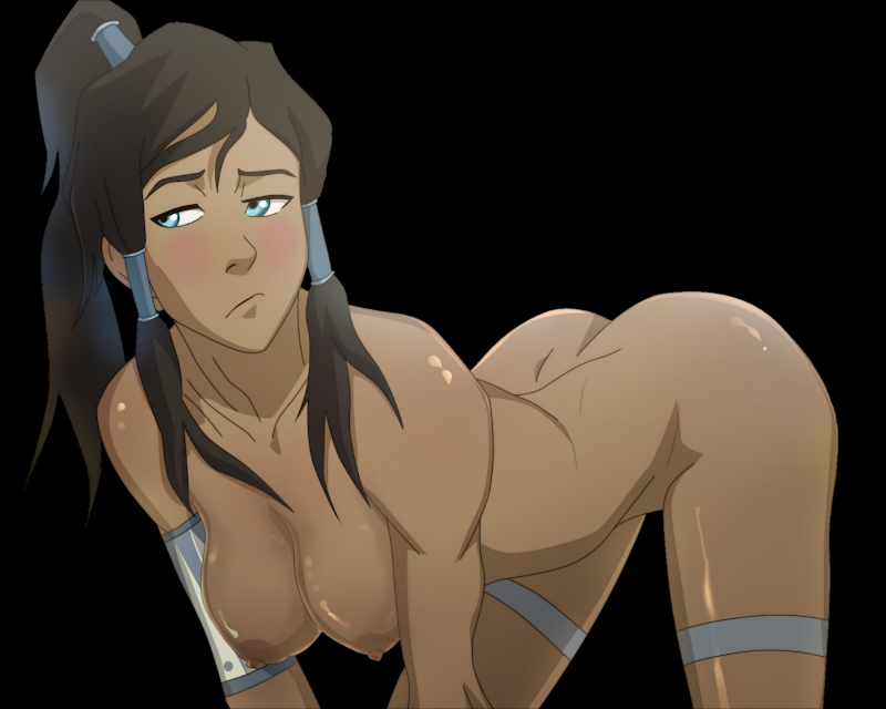 Lovely avatar Korra shows her amazing body with pretty boobs