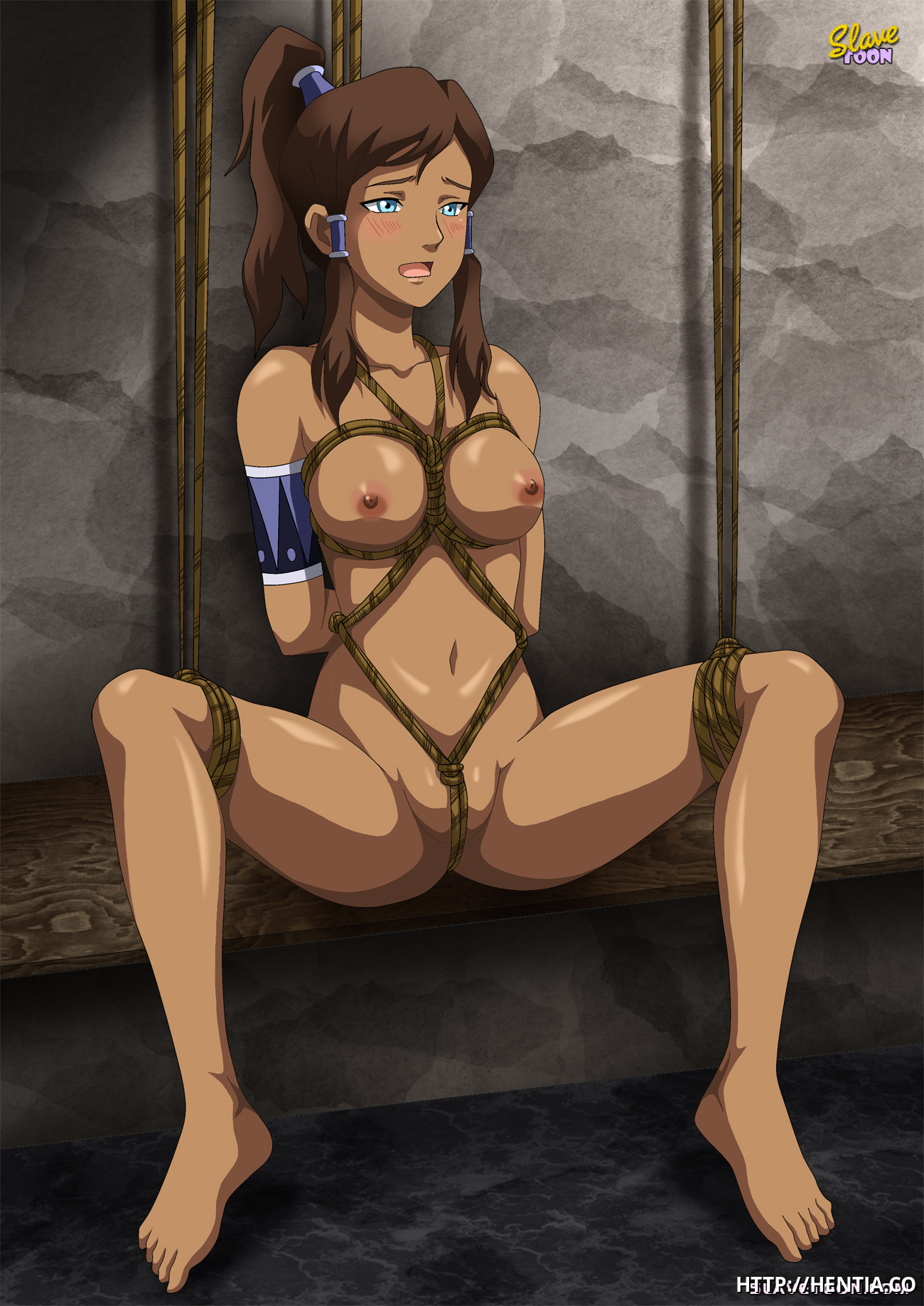 Sexy Korra like rope fun and BDSM bondage