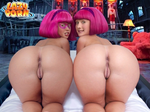 Stephanie and her twin sister demonstrating their rump and coochie.