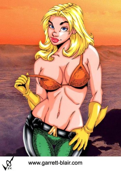 What if Aquaman was a female... a very horny female!
