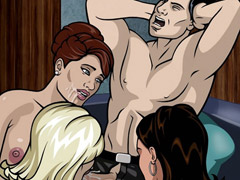 Style cartoon Archer porn