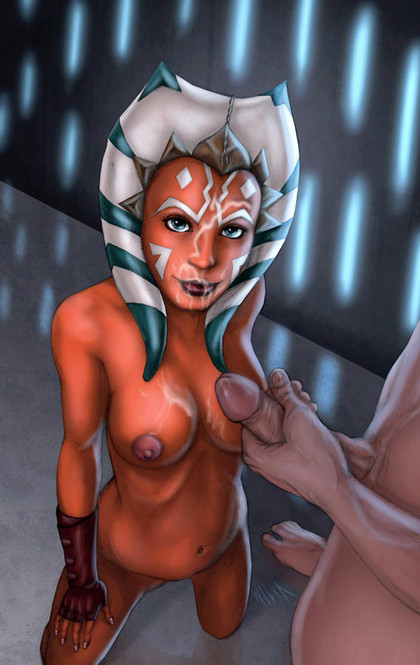 For Anakin Ahsoka Tano is the best padawan ever - he can cum all over her nude body at any time!
