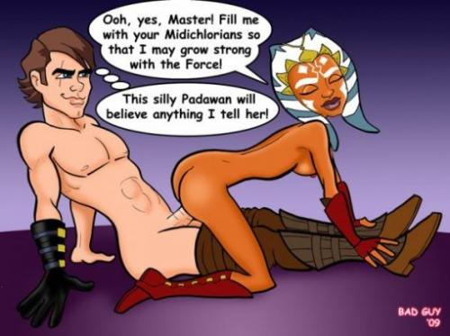 As a jedi Anakin knows a couple of tricks how to make Ahsoka Tano have sex with him...