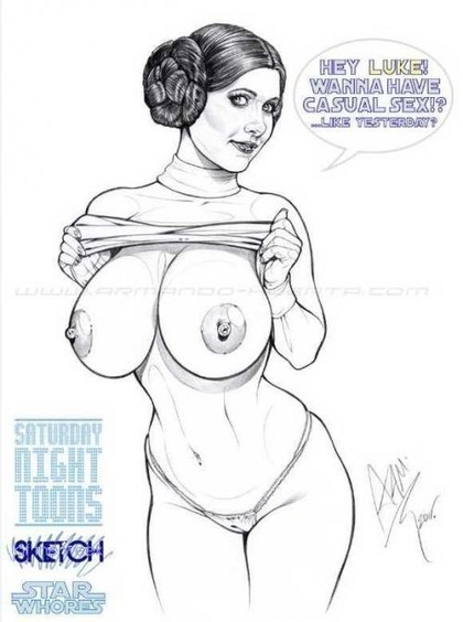 Who doesn't want to have casual sex Princess Leia? Especially if she has so big boobs!