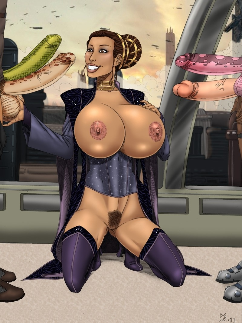 With boobs like hers Padme Amidala will achive success in negotiating with any male in Republic!