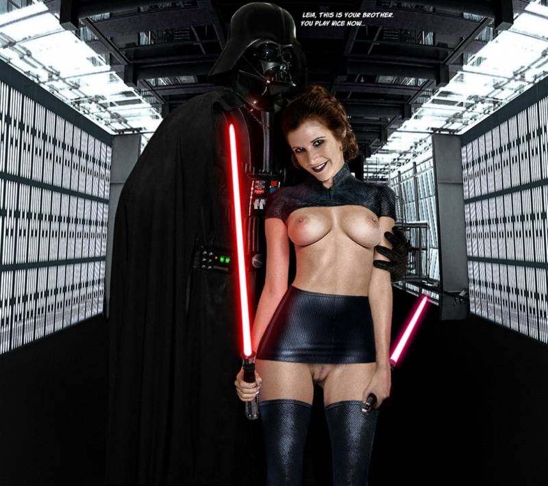 Busty Princess Leia want fuck witn Dart Weider