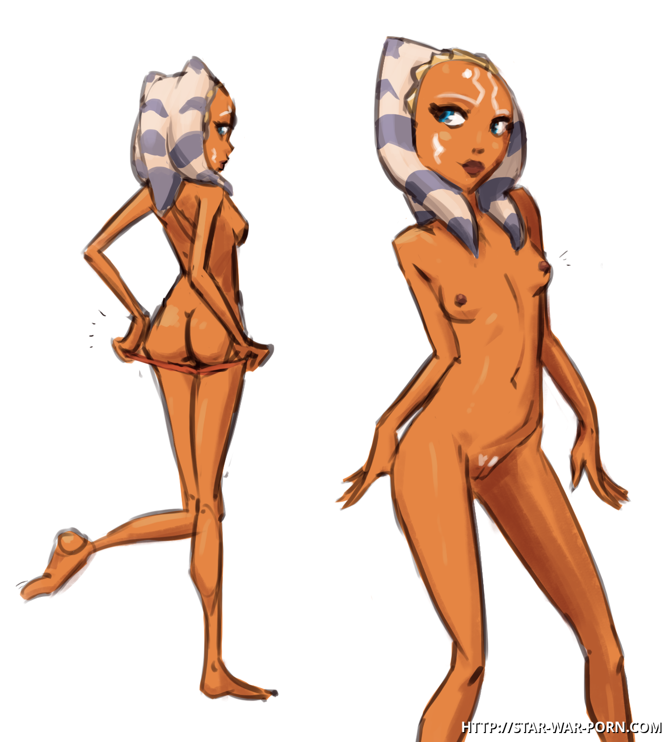 Sexy butt and cute tits - Ahsoka Tano is definitely the hottest jedi padawan ever!