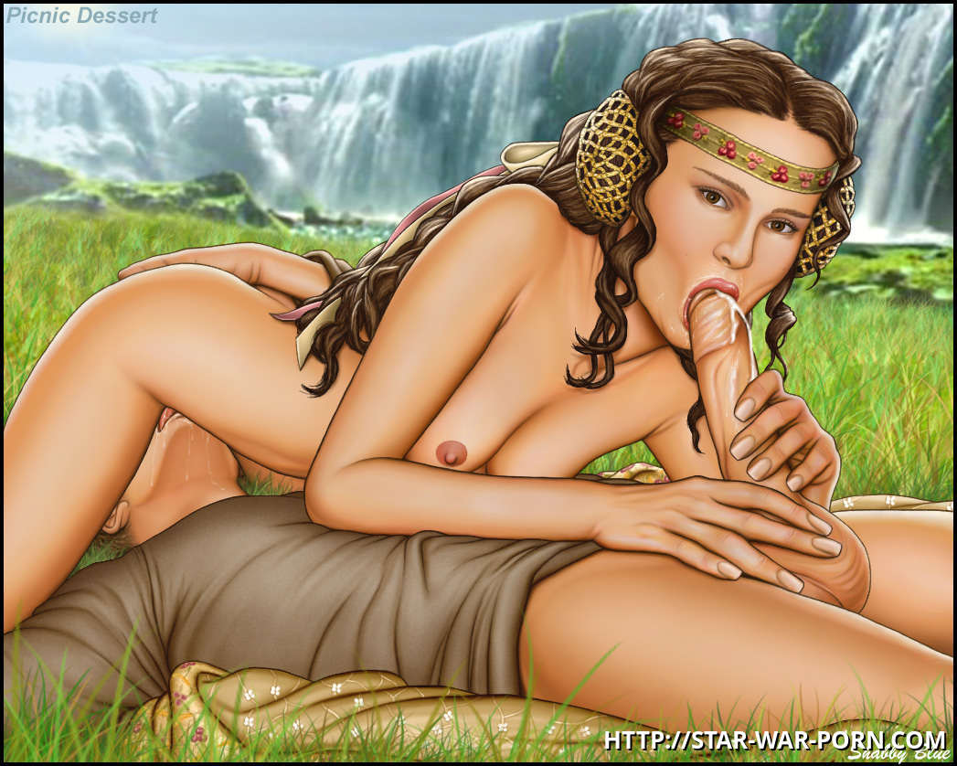 Take a glance at Padme providing Anakin a deep throat - picnic dessert truly!