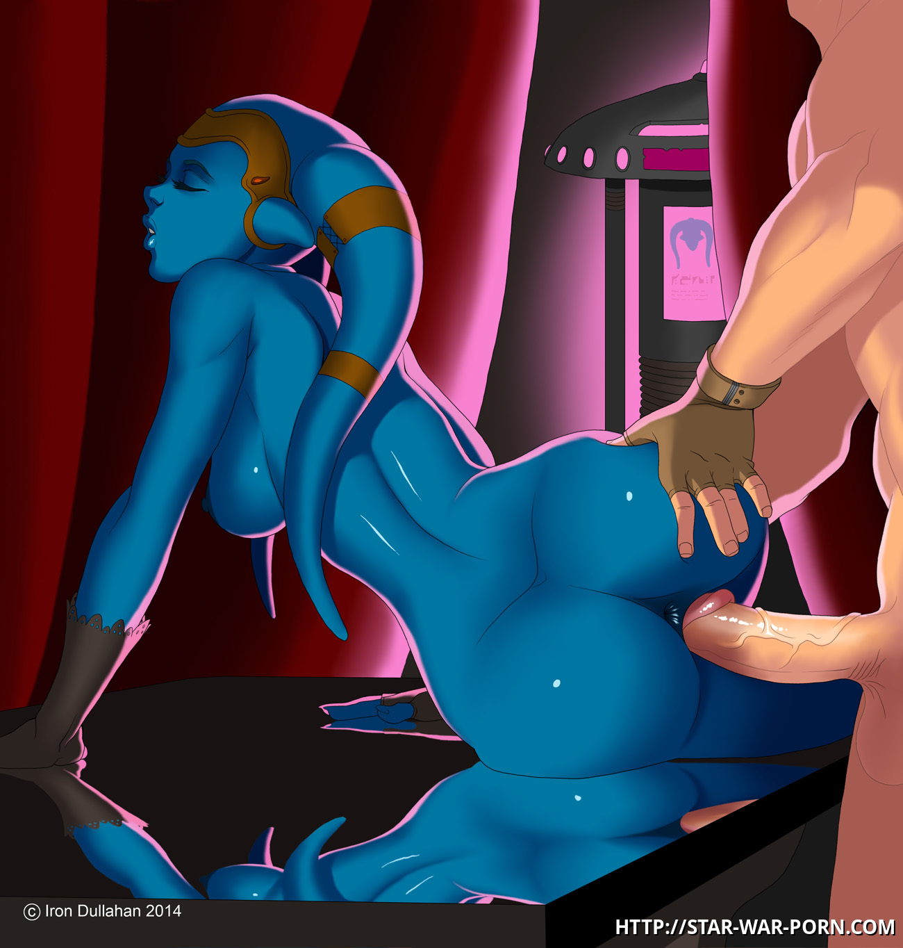 Nude jedi Aayla Secura gets boinked from behind!