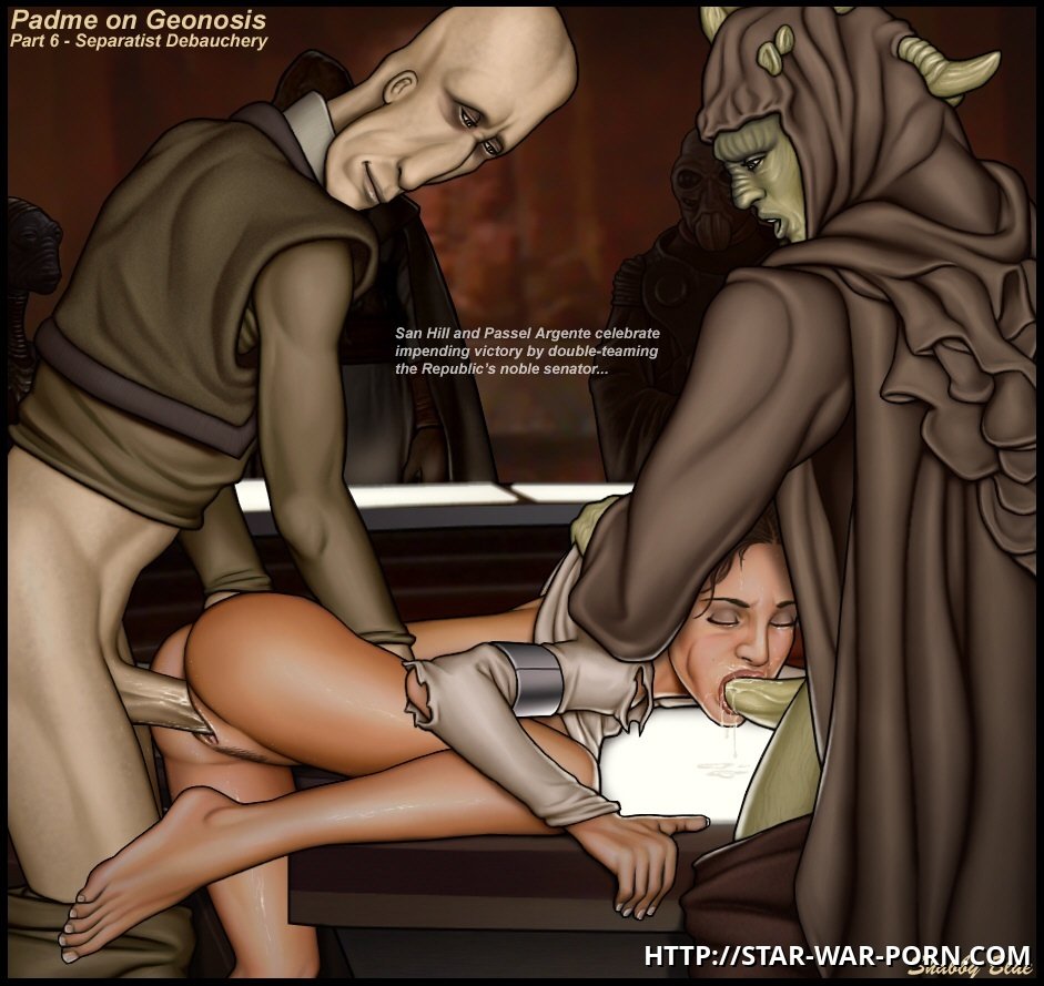 On Geonosis Padme gets a wellcoming not as a queen but as a slut!