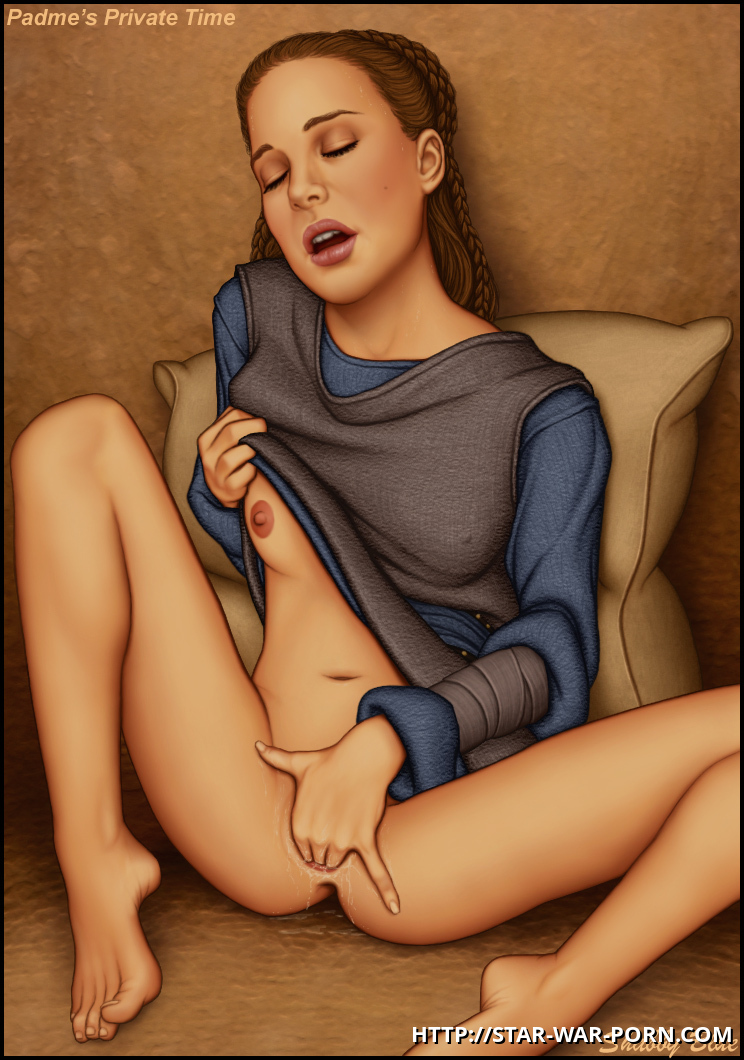 Padme uses her private time to relax...
