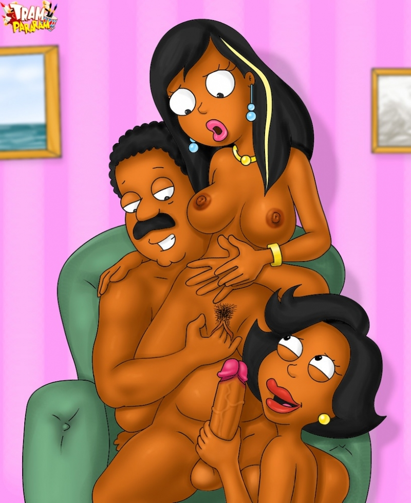 Cleveland Brown taunting both femmes - Roberta and Donna Tubbs