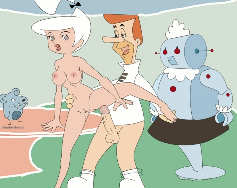 Goerge and Judy get even more horny when Rosie is watching them