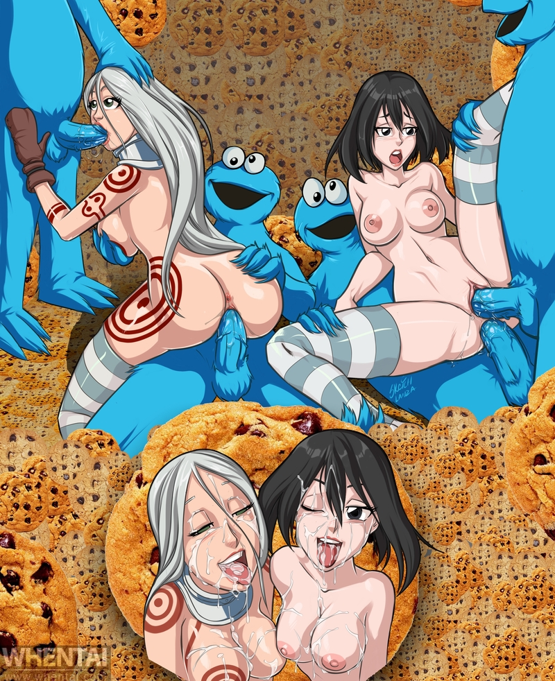 Shiro and her sexy friend are attacked by horny coockie monsters!