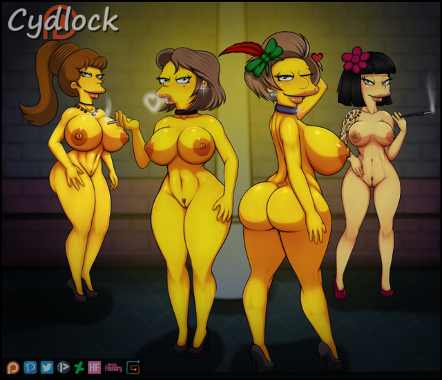 Marge Simpson Lisa Simpson Ms. Krabappel  Selma Bouvier Patty Bouvier  Bart Simpson cyd-631049-The_Simpsons.jpg