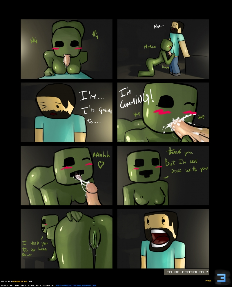 Steve Creeper Enderman 885992 - Creeper Minecraft Steve comic psyk323.jpg