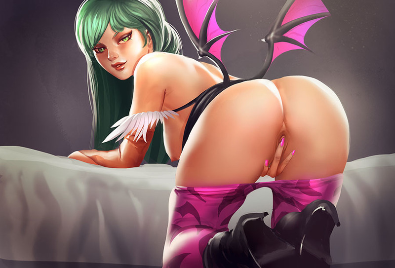 Morrigan Aensland Q-Bee share_it_e156cd26be1d833aff57367a6041c273