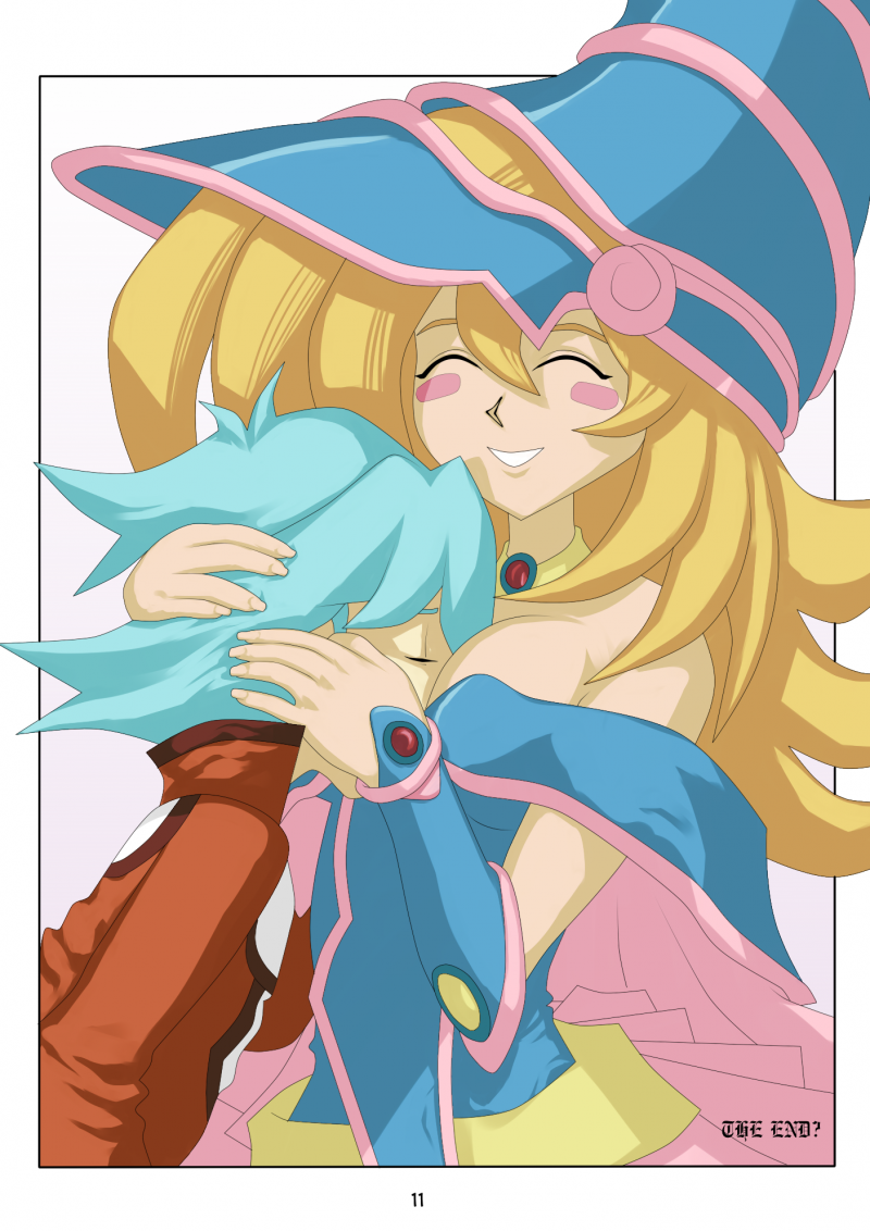Dark Magician Gal always luved to bury cute boy's face beween her knockers!