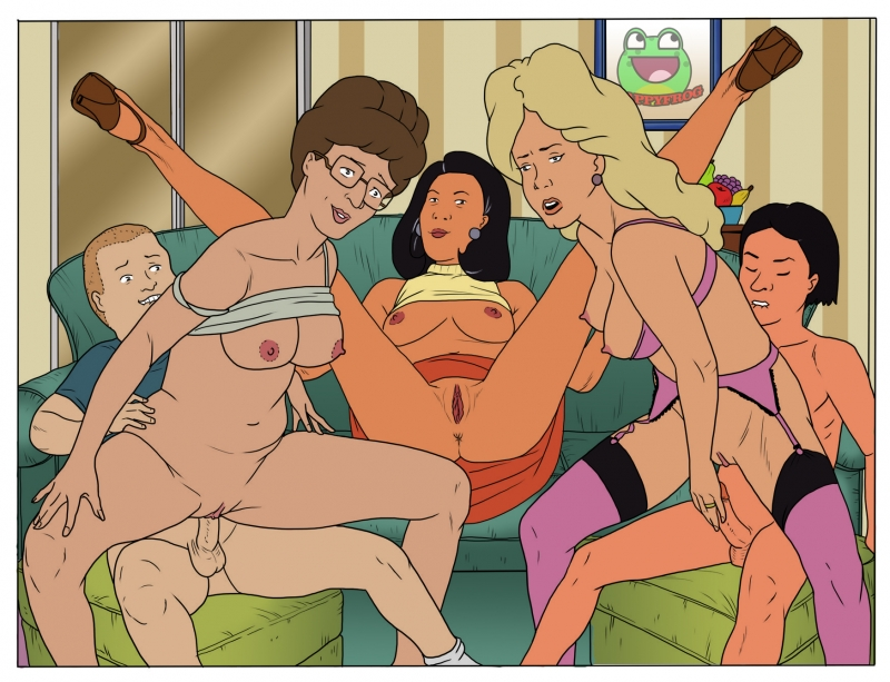 Now Peggy Hill knows that horny orgies in living apartment are actually joy!