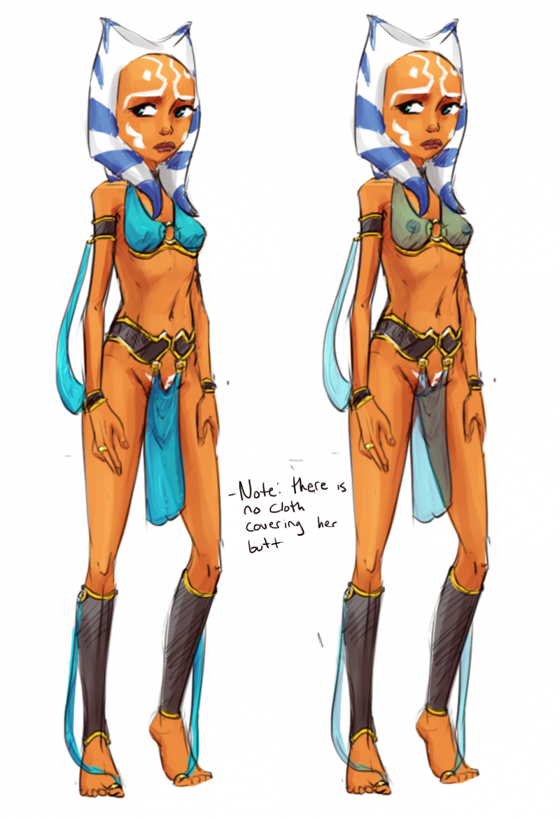 These slave outfits are seem to be too promiscuous even for Ahsoka Tano
