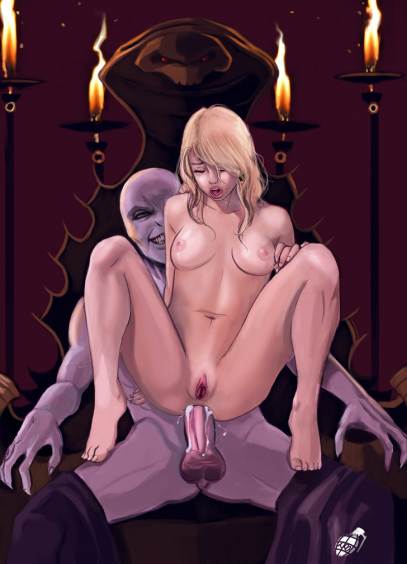 Bare Luna Lovegood gets massive manmeat of darkness in her most darkest fuck-hole!