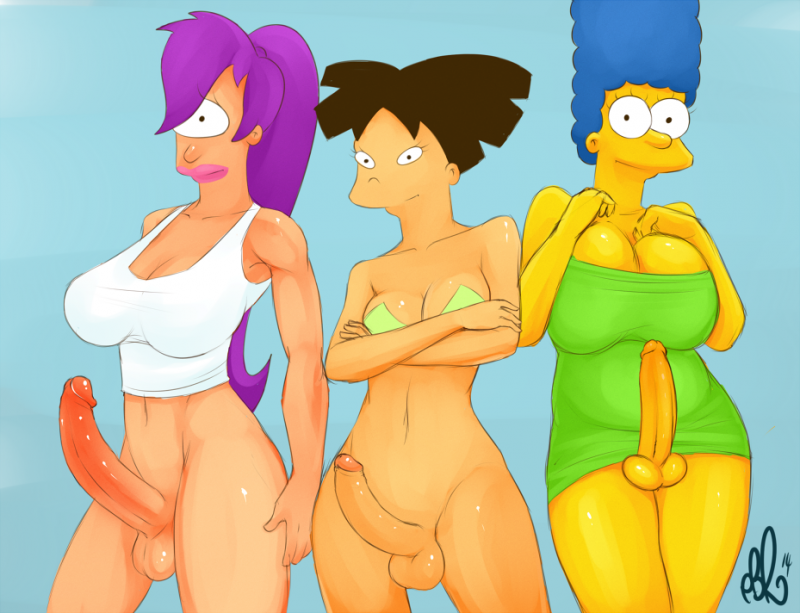 1420868 - Amy_Wong Futurama Marge_Simpson The_Simpsons Turanga_Leela crossover pbrown.png