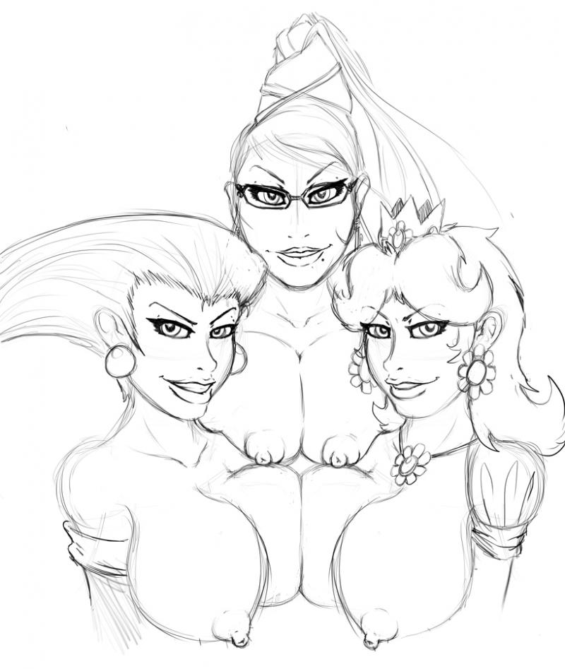 1432165 - Bayonetta Jessie Porkyman Princess_Daisy Super_Mario_Bros. Team_Rocket crossover fleatrollus.jpg