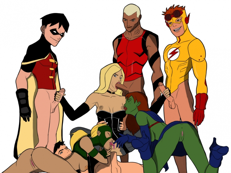Artemis Robin Megan/ Ms. Martian. Superboy Kid Flash Aqualad  Speedy
