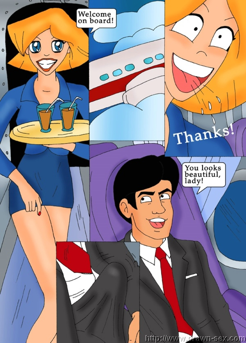 Flight Attendants: Now our favorite spygirls are totally in the mile high club!